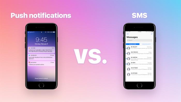 Push Notifications ou SMS: Quando usar cada um desses canais?